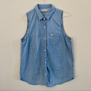 Abercrombie & Fitch Chambray Sleeveless Top
